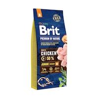 Суха храна за кучета Brit Premium (нова подобрена формула), Junior M, 15 кг
