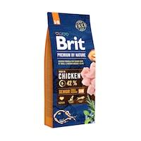 Суха храна за кучета Brit Premium (нова подобрена формула), Senior S & M, 15 кг