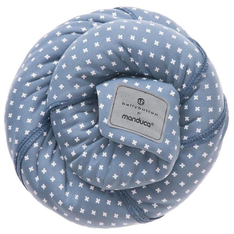 Fotografie Wrap elastic Manduca BellyButton WildCrosses, Albastru