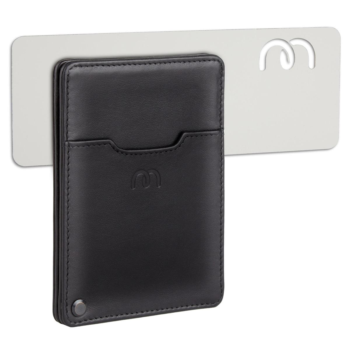design unic vânzare uriașă transport gratuit Portofel inteligent din piele naturala, Magnetto Smart, slim, protectie  RFID, suport inclus, negru - eMAG.ro