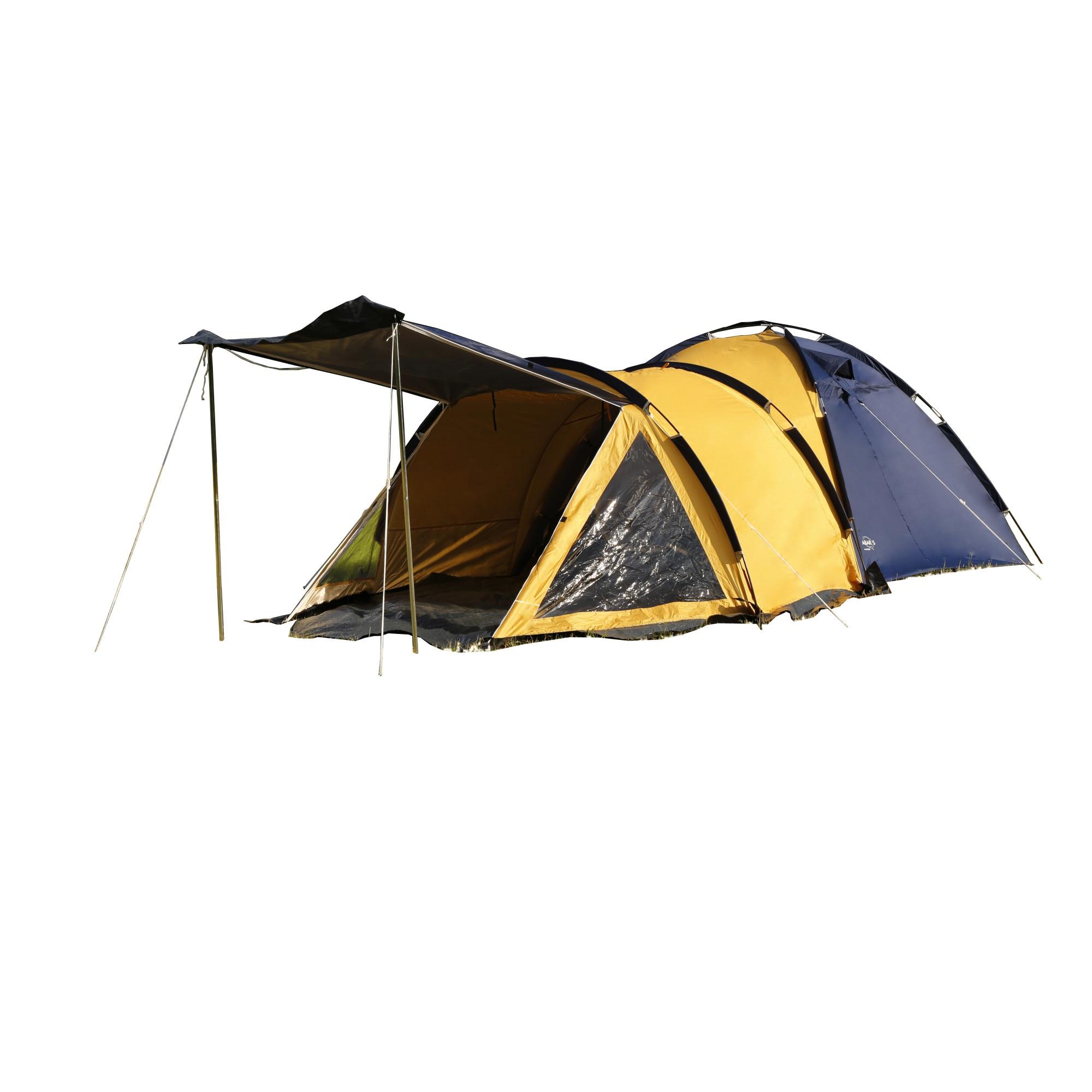 Namiot kempingowy Abarqs Traper 4, 4 os, niebieski