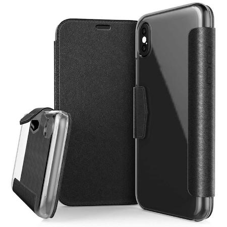 Husa telefon Engage Folio X-Doria pentru iPhone X, Negru