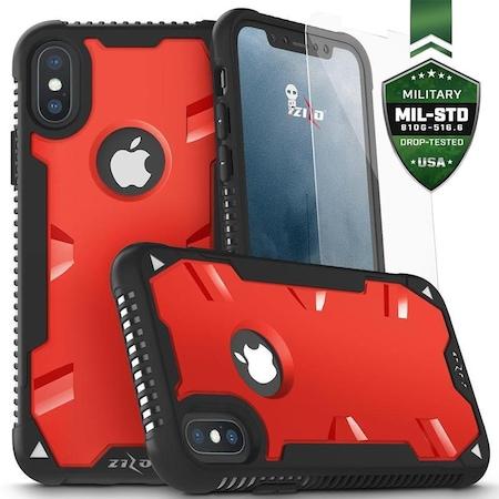 Husa protectie Zizo Proton pentru Apple iPhone X, Negru/Rosu