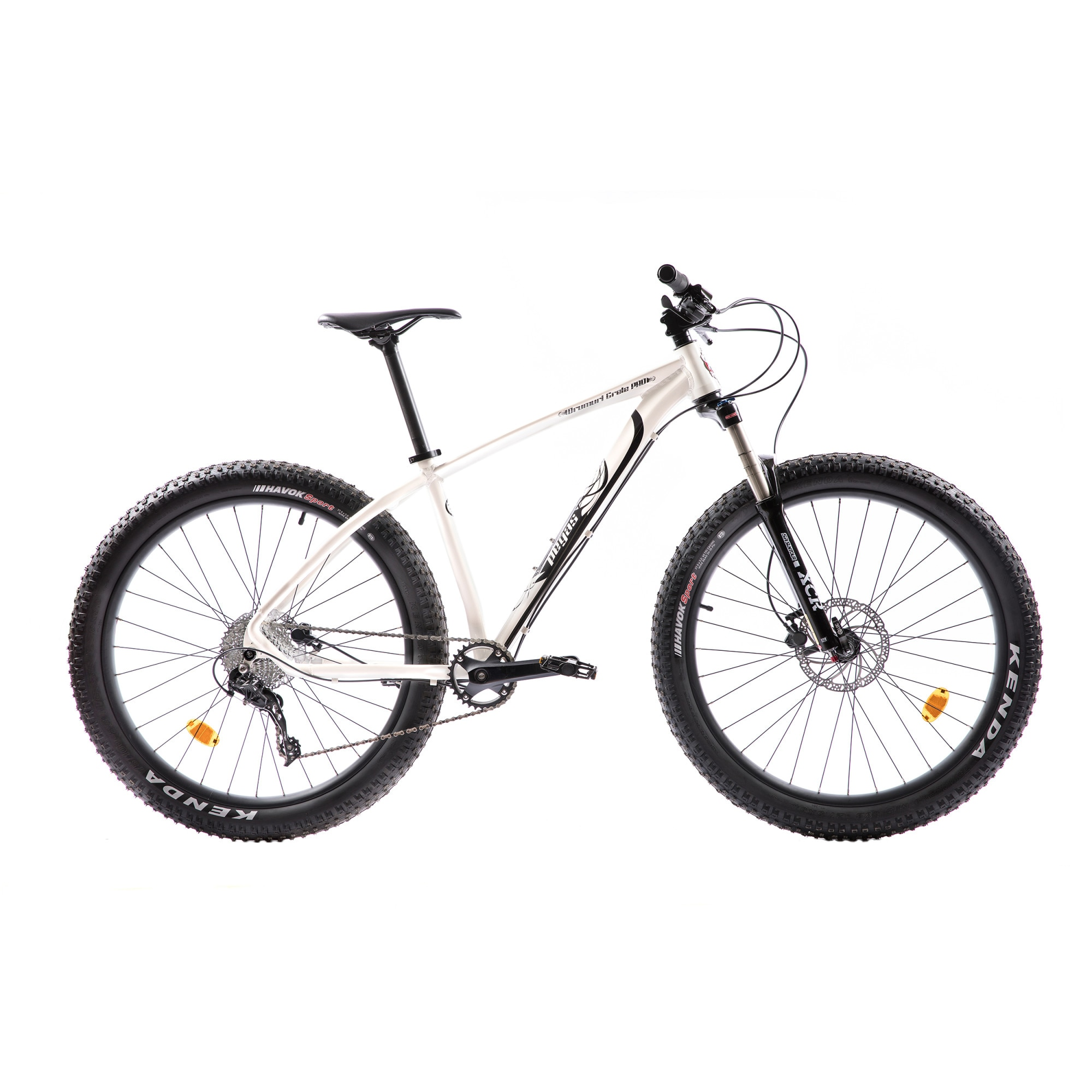 "Fotografie Bicicleta Pegas MTB Fat Bike Drumuri Grele Pro , 17"", Alb/Negru"