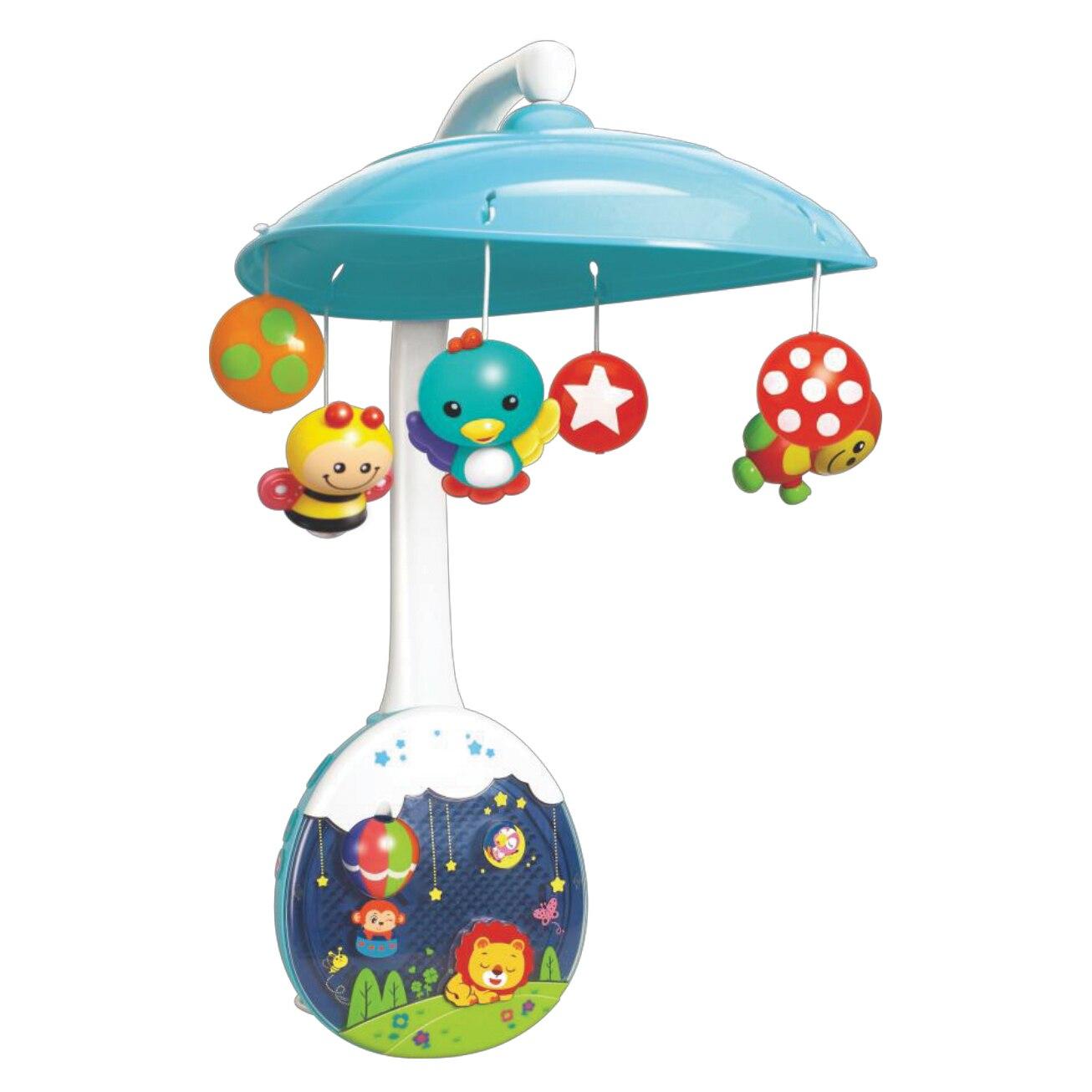 Fotografie Carusel muzical M-Toys, pentru patut, cu proiector si jucarii detasabile