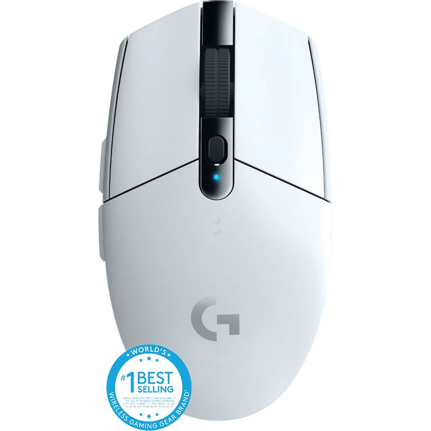 Fotografie Mouse gaming wireless Logitech G305 LightSpeed Hero 12K DPI, Alb