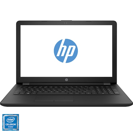 "Лаптоп HP 15-ra060nq, 15.6"", Intel® Celeron™ N3060, RAM 4GB, HDD 500GB, Intel® HD Graphics, FreeDOS, Jet Black"