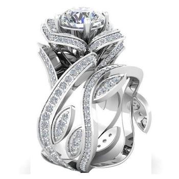 Női gyűrű, Topáz kövekkel 925 ezüst
