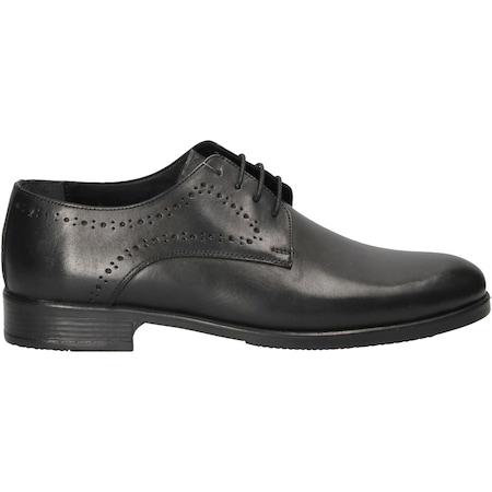 Pantofi din piele naturala, cu perforatii,Negru ,Marimea 40