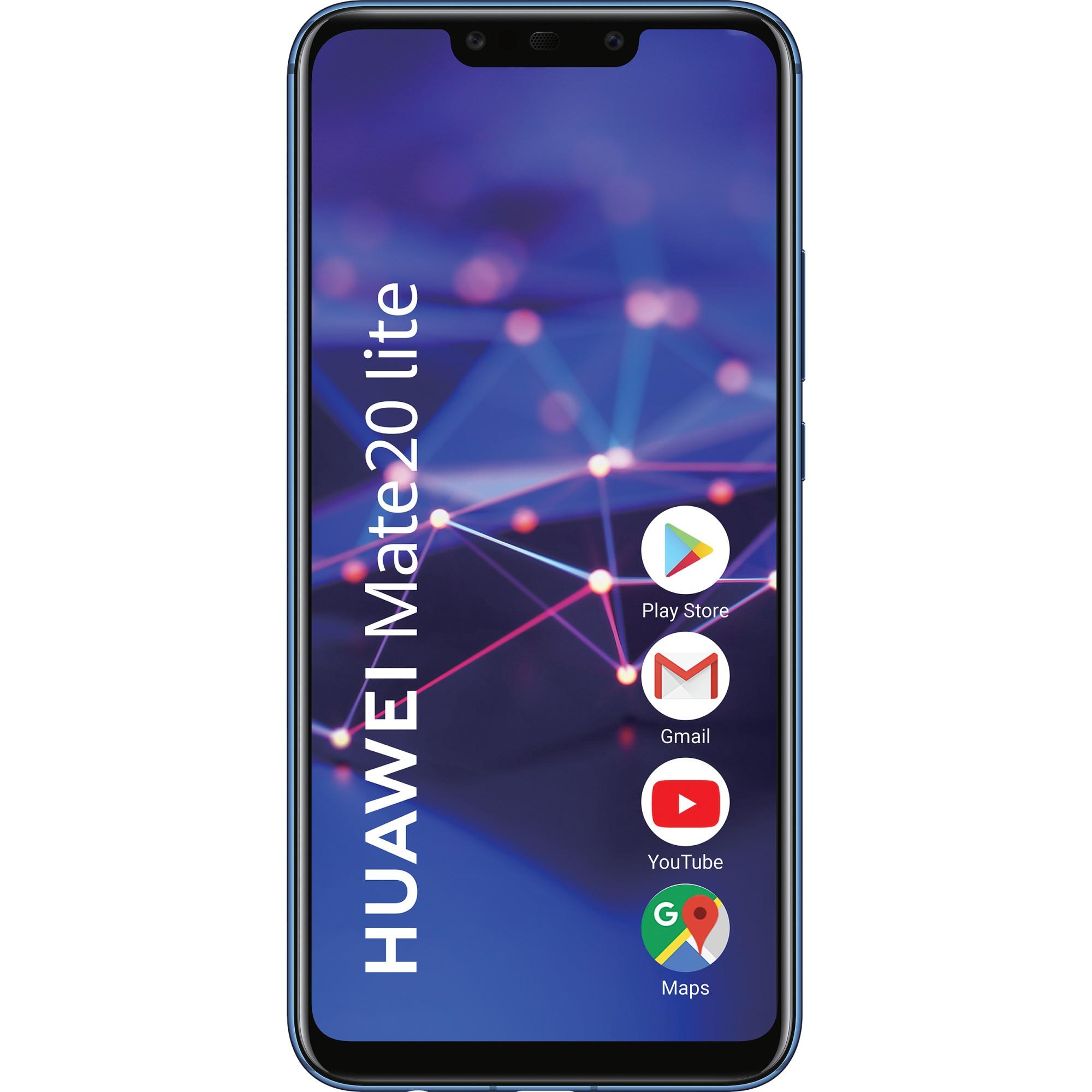 Fotografie Telefon mobil Huawei Mate 20 Lite, Dual SIM, 64GB, 4G, Sapphire Blue