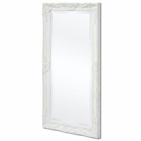vidaXL Barokk stílusú fali tükör 100x50 cm fehér