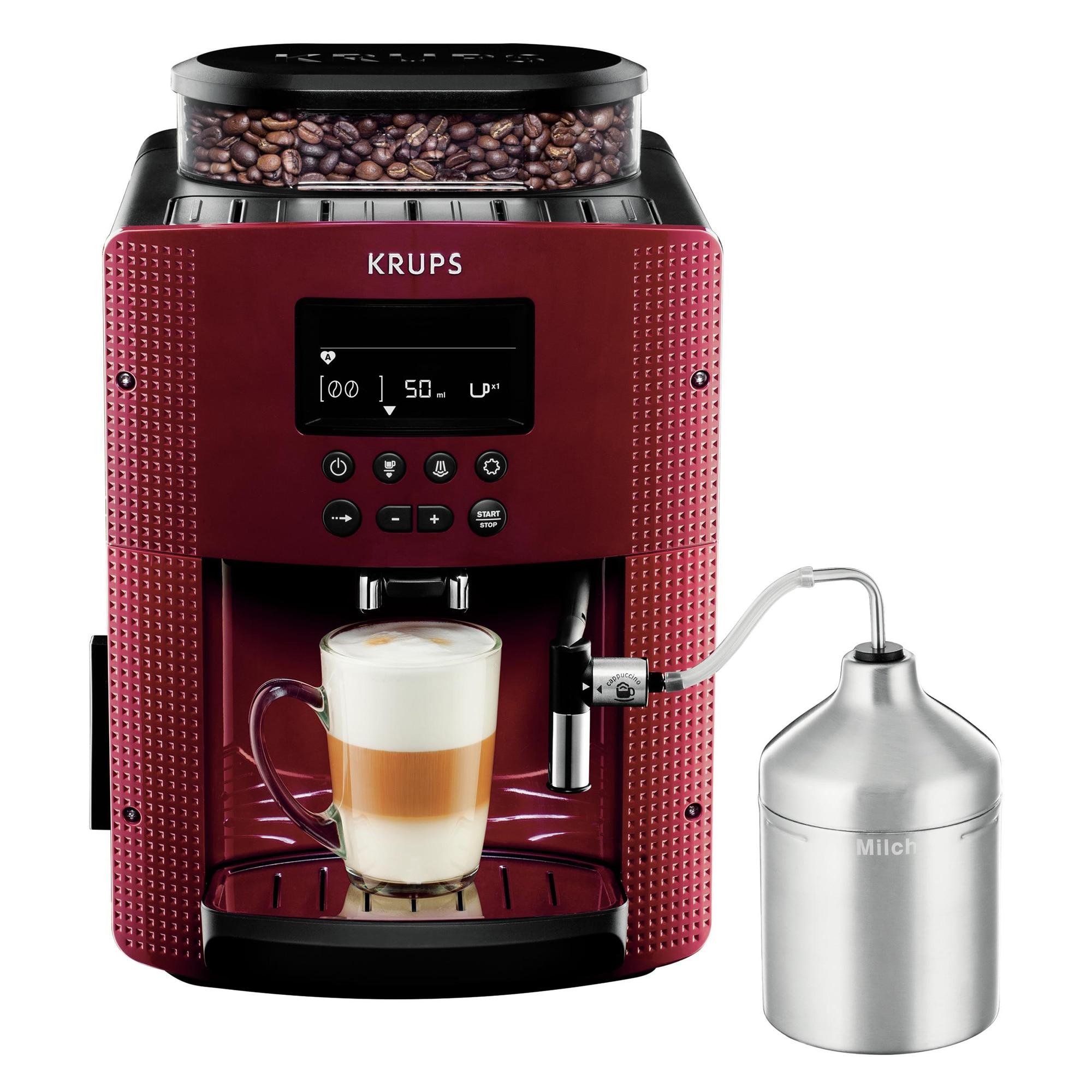 Fotografie Espressor automat KRUPS EA816570, 1.7l, 1450W, 15 bar, rosu