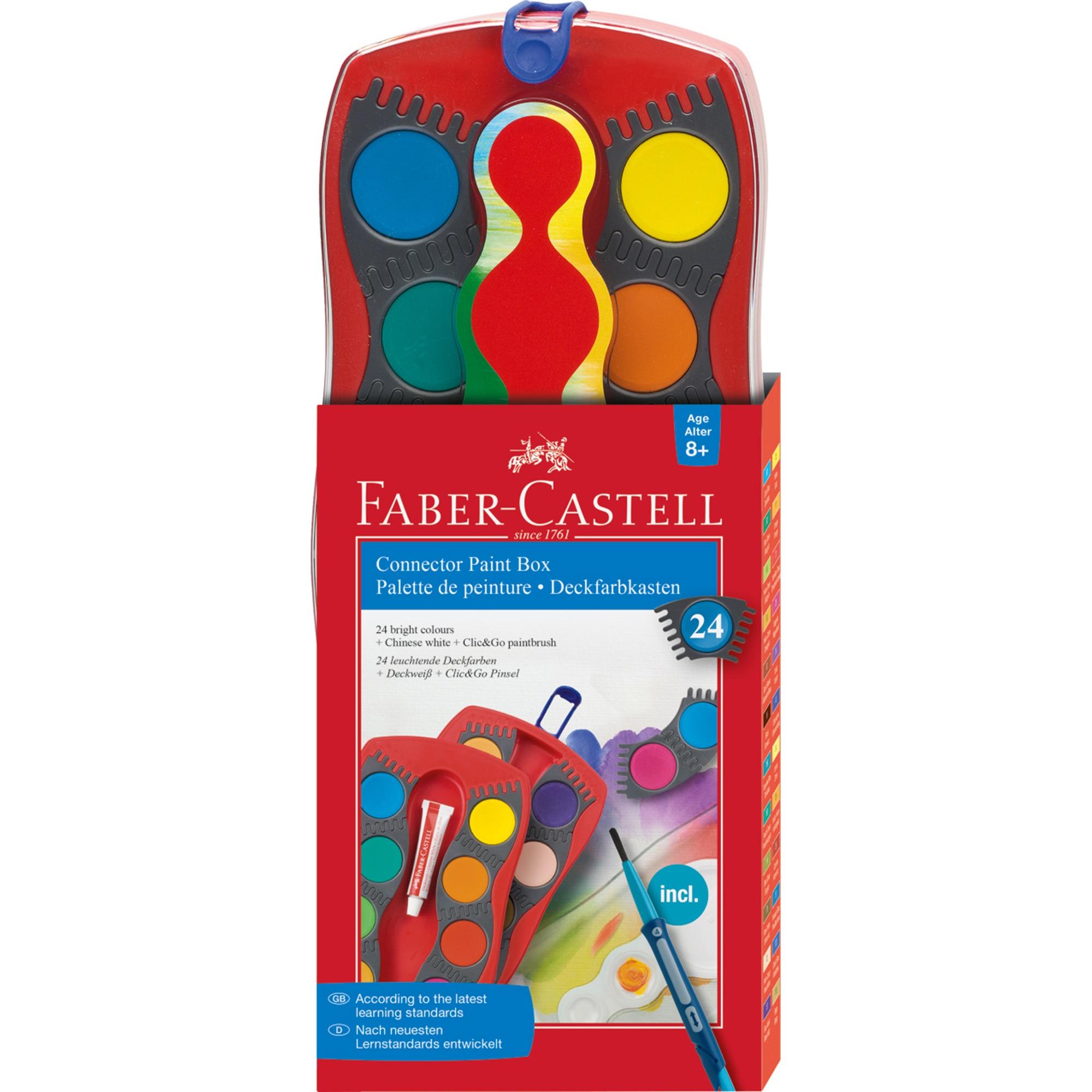 Fotografie Acuarele Faber-Castell Connector, 24 culori