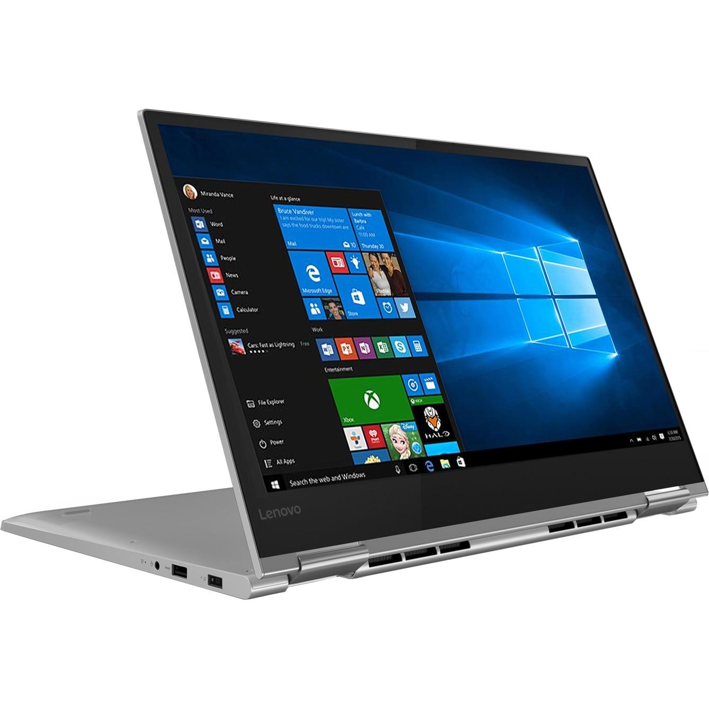 "Fotografie Laptop 2 in 1 Lenovo YOGA 730-15IKB cu procesor Intel® Core™ i7-8550U pana la 4.00 GHz, Kaby Lake R, 15.6"", Full HD, IPS, Touch, 8GB, 512GB SSD, NVIDIA GeForce GTX 1050 4GB, Microsoft Windows 10, Platinum"