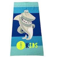 Детска плажна кърпа Huxykids, Акула, 70х140 см