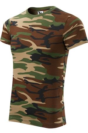 Мъжка тениска ADLER Камуфлаж, кафяв камуфлаж