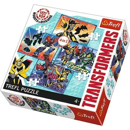 Puzzle 4in1 Transformers Trefl, 207 piese
