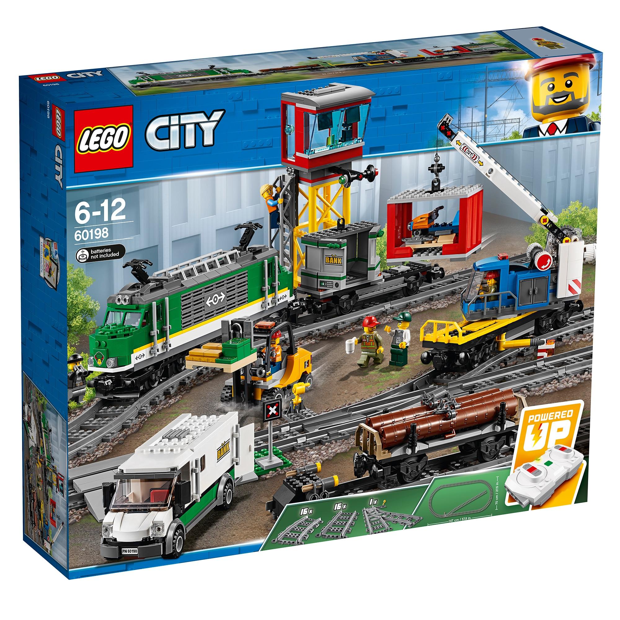Fotografie LEGO City - Tren marfar 60198, 1226 piese