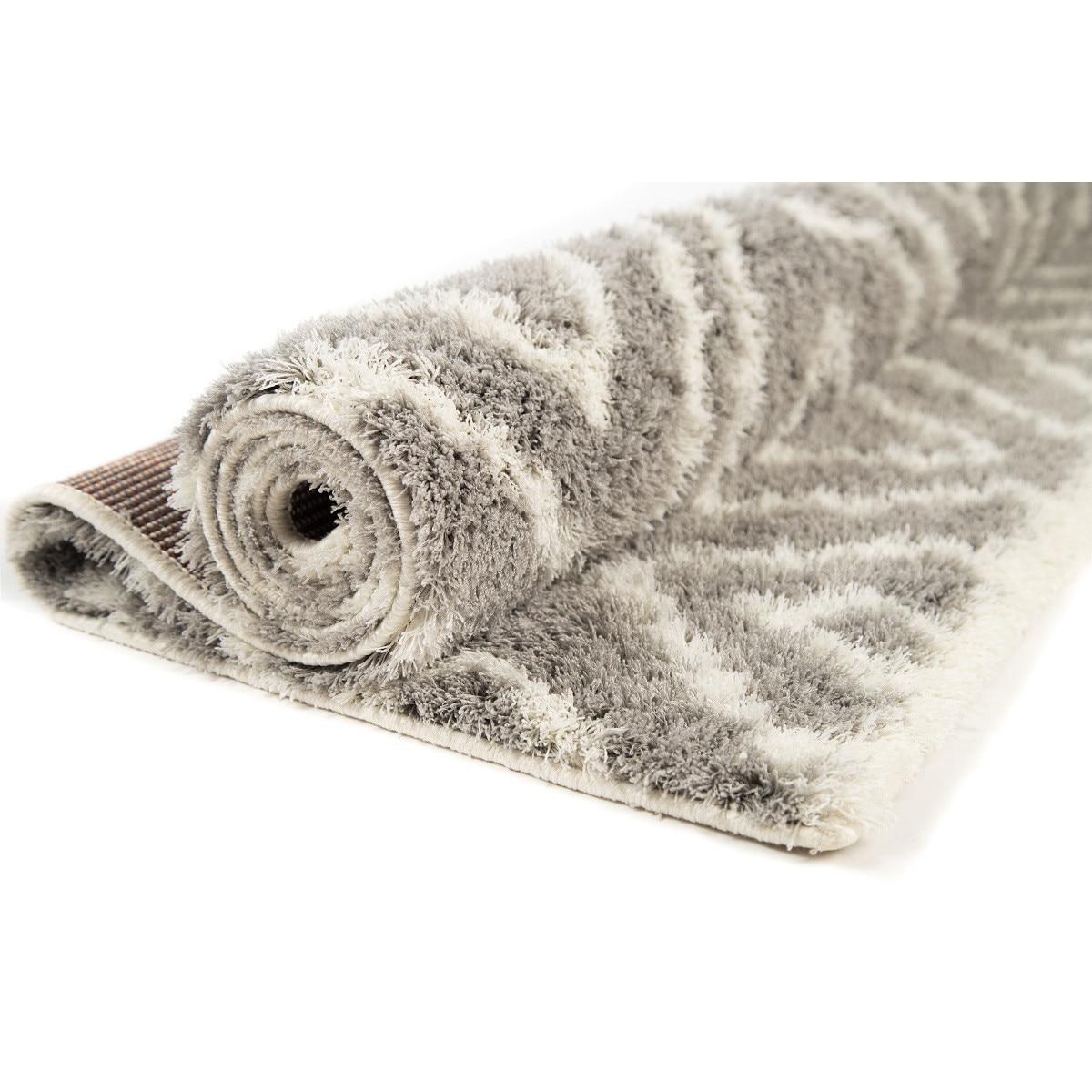 Dywan Shaggy Nano Light Mikrofibra szaro biały 160 x 235 kup online | eMAG.pl