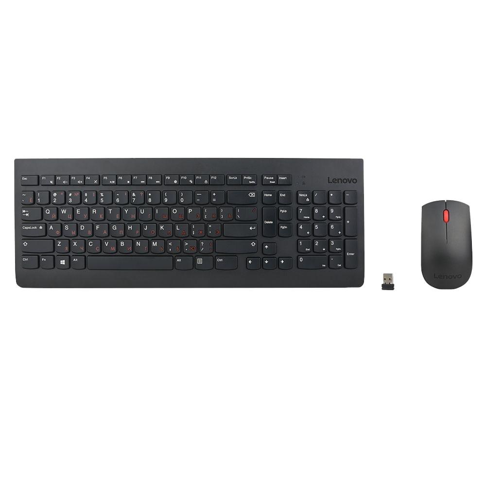 Fotografie Kit mouse + tastatura Lenovo 510, Wireless, Negru
