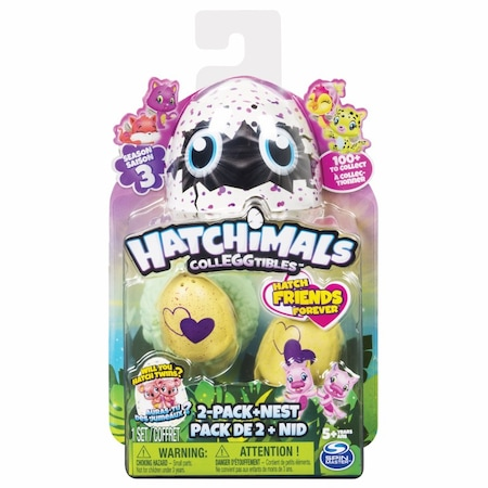 Фигури Hatchimals Colleggtibles, Серия 3, 2 яйца в гнездо