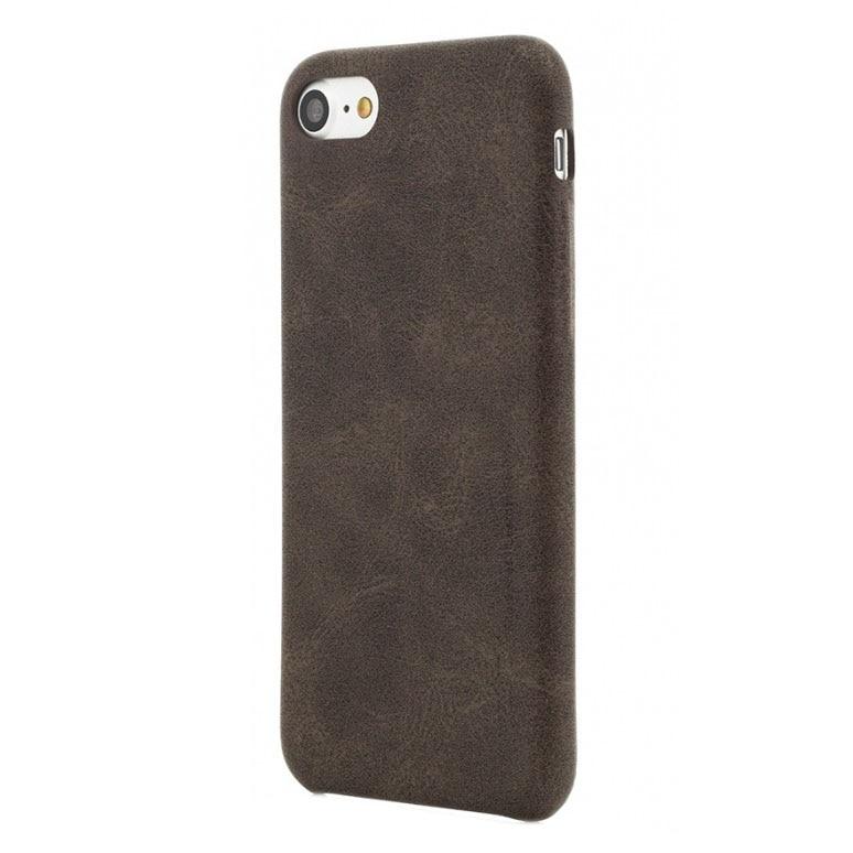 Fotografie Husa de protectie Vetter Clip-On Leather Feel pentru Apple iPhone 8 / iPhone 7, Coffee