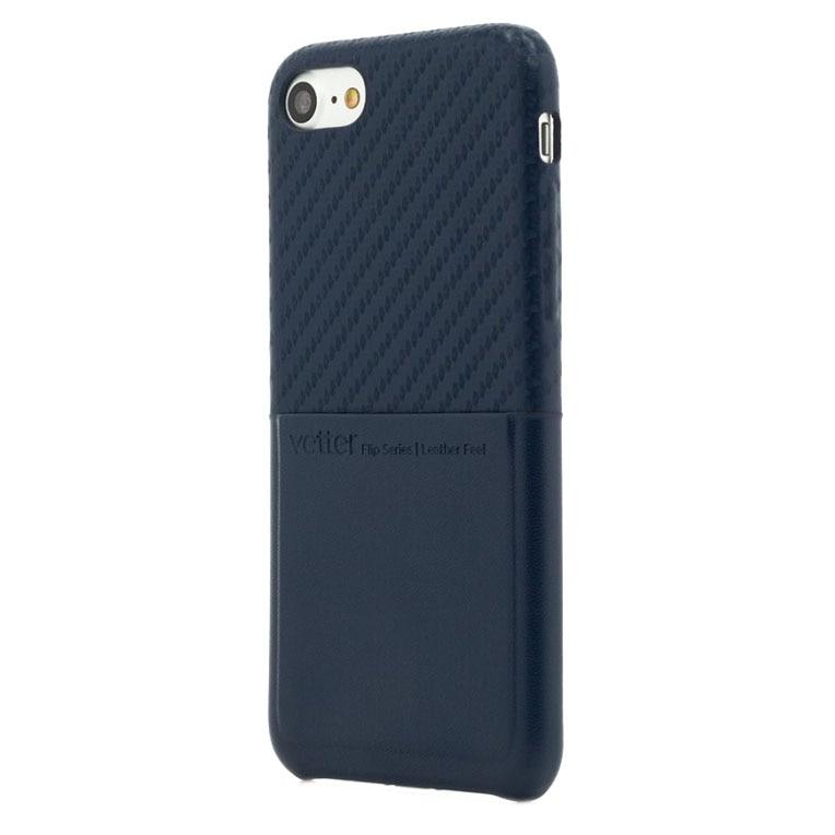 Fotografie Husa de protectie Vetter Clip-On Carbon Fiber Feel pentru Apple iPhone 8 / iPhone 7, Blue