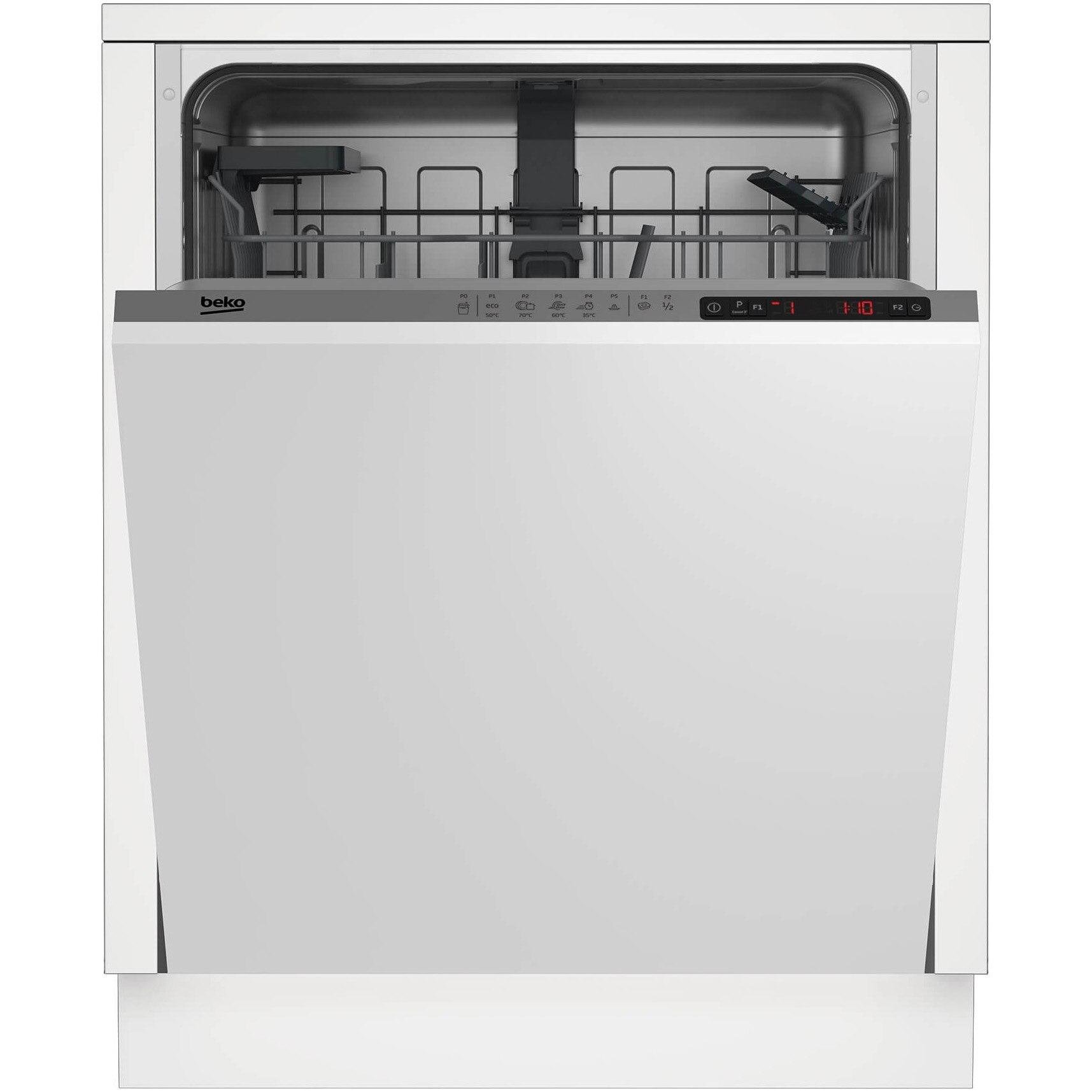 Fotografie Masina de spalat vase incorporabila Beko DIN25310, 13 seturi, 5 programe, Clasa A+, 60 cm