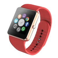 Смарт часовник Smart Wear GT08, слот за сим карта и мемори карта, камера, bluetooth, Червен / Red