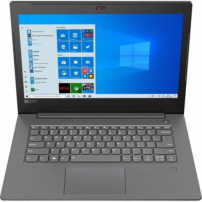"Fotografie Laptop Lenovo V330-14IKB cu procesor Intel® Core™ i5-8250U pana la 3.40 GHz, Kaby Lake R, 14"", Full HD, 8GB, 256GB SSD, Intel UHD Graphics 620, Microsoft Windows 10 Pro, Iron Grey"