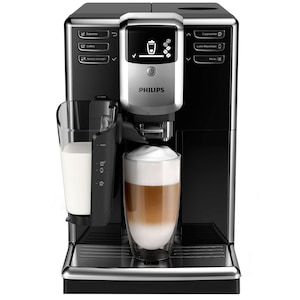 Espressor automat Philips EP5330/10 Seria 5000, sistem de lapte LatteGo, 6 bauturi, 5 setari intensitate, 5 trepte macinare, rasnita ceramica, Negru