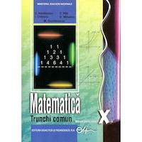 Matematica, manual pentru clasa a X-a -Trunchi comun (TC), autor Constantin Nastasescu