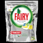 Почистващ препарат за съдове капсули Fairy Platinum, 37 броя