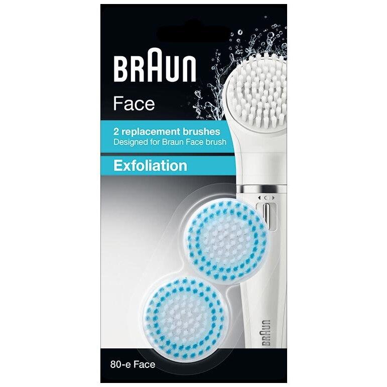 Fotografie Rezerva perie epilator Braun Face SE80-E Exfoliant, pentru ten normal sau gras