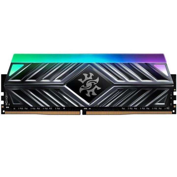 Fotografie Memorie ADATA XPG Spectrix D41 Titanium Gray, 16GB DDR4, 3200MHz, CL16, RGB