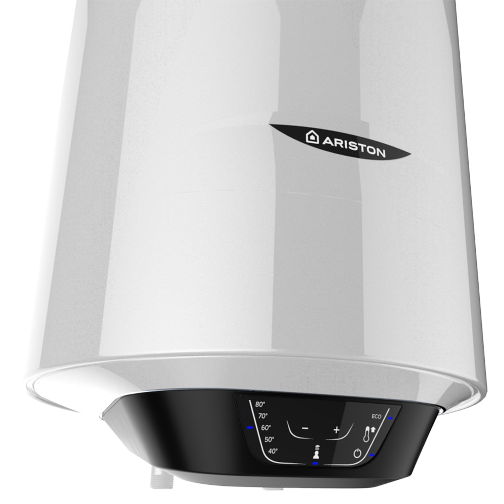 Boiler electric Ariston Pro 1 Eco Slim 50L, W, functie Eco Evo, rezervor emailat cu Titan