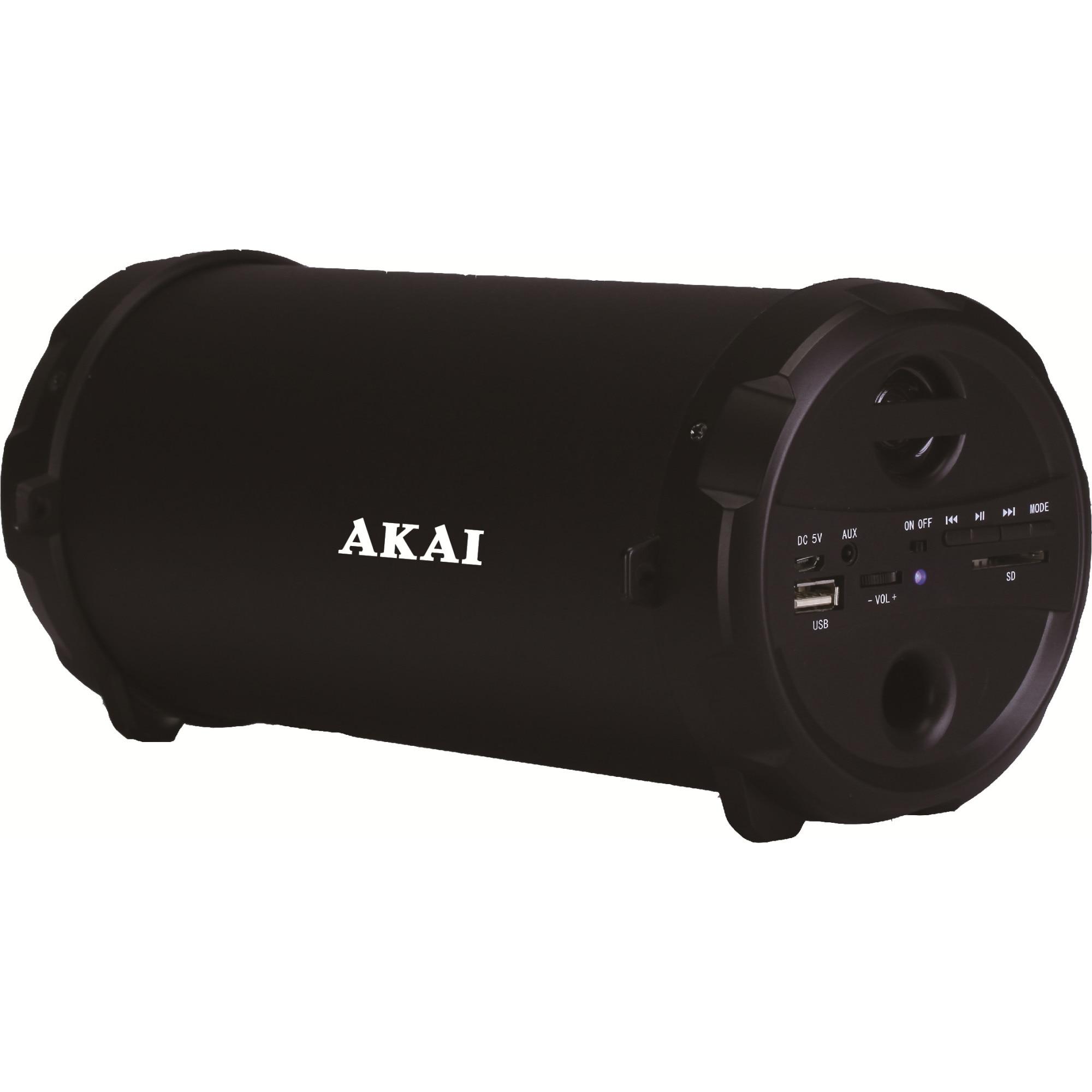 Fotografie Boxa portabila Akai ABTS-12C, radio FM, karaoke, negru