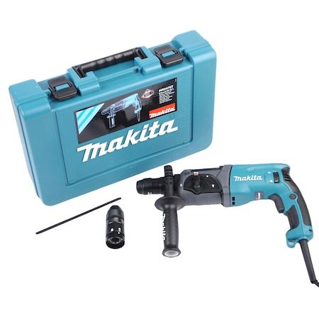 Перфоратор Makita HR2470T, 780W, 2.4J, 1100 об/мин, Патронник SDS-Plus и бърз патронник, 3 Функции + Аксесоар