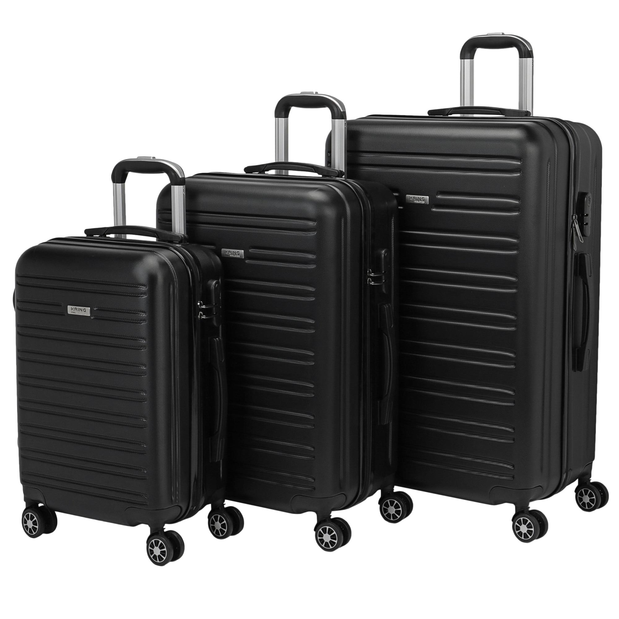 Fotografie Set trolere Kring Salvador ABS, 55 cm+65 cm+75 cm, Black
