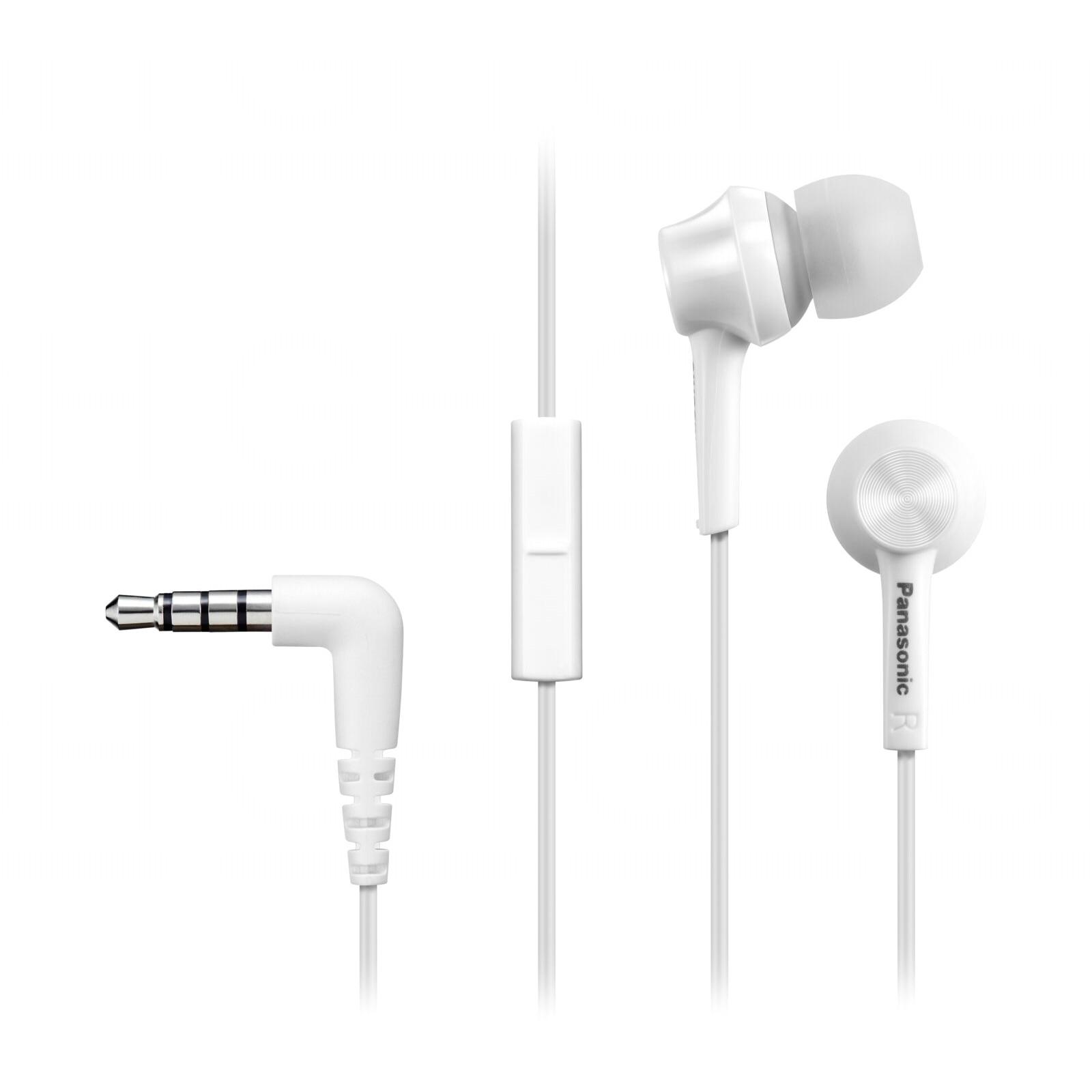 Fotografie Casti Audio In Ear Panasonic RP-TCM115E-W, Cu fir, Microfon, Alb