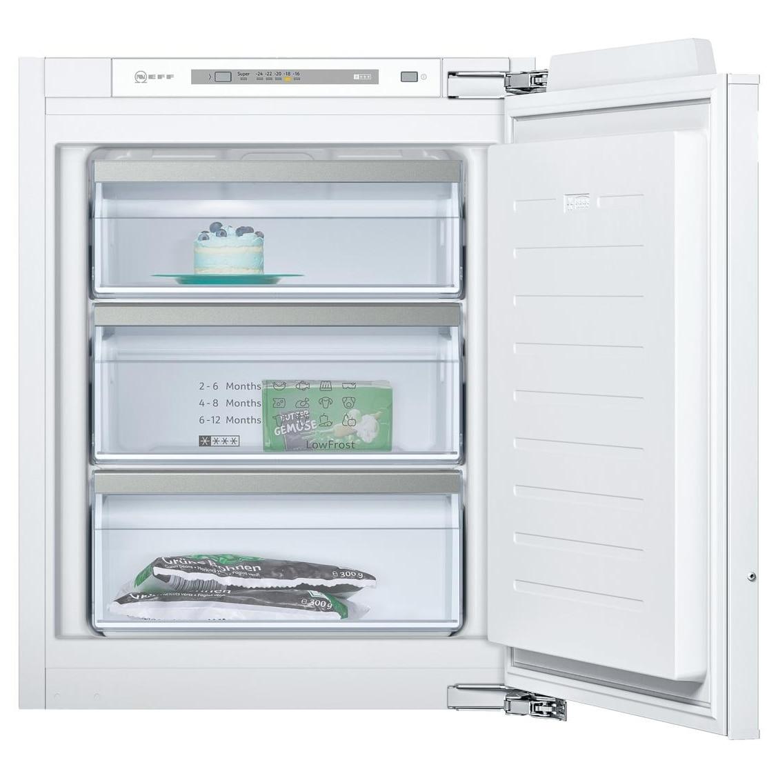 Fotografie Congelator incorporabil Neff GI1113F30, 72 l, Clasa A++, Low Frost, Touchcontrol, Afișaj LED, H 71 cm