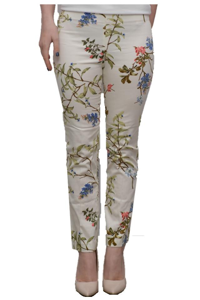 destul de frumos calitate superioară prețuri incredibile Pantaloni Dama Zara cu Imprimeu Floral din Bumbac XS - eMAG.ro