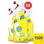 Dettol Power&Fresh Univerzális felülettisztító spray, Citrom&Lime, 3 x 500ml