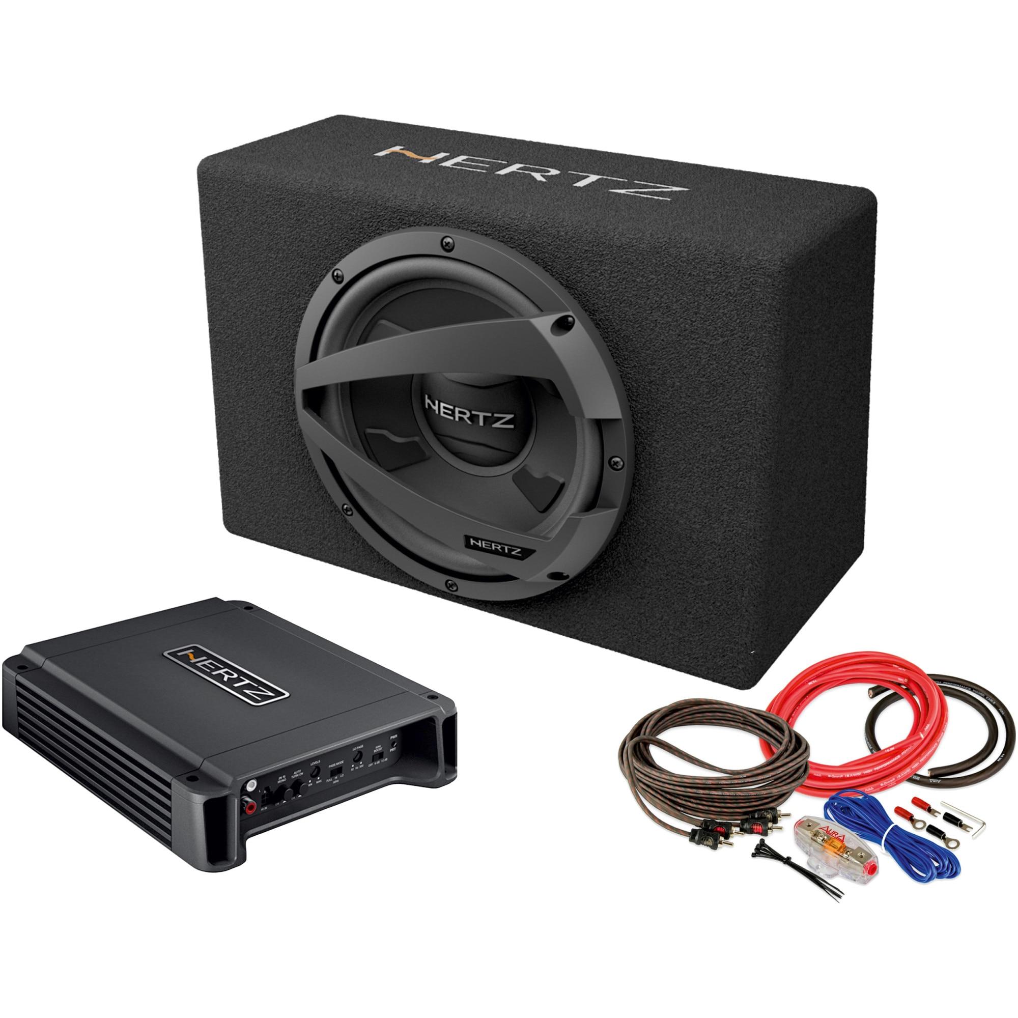 Fotografie Pachet Subwoofer auto Hertz DBX 30.3 + Amplificator Hertz HCP 2 + Kit de cabluri complet