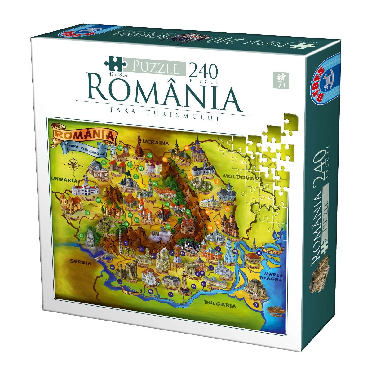 Fotografie Puzzle D-Toys Romania, Obiective turistice, 240 piese