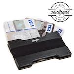 Алуминиев портфейл zenifique® Slim Minimalist, Със RFID защита, Черен