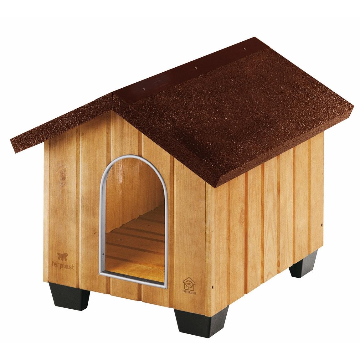 Fotografie Cotet pentru caini Ferplast, Domus, Small, lemn
