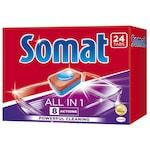 Почистващ препарат за съдомиялна Somat All in one, 24 таблетки