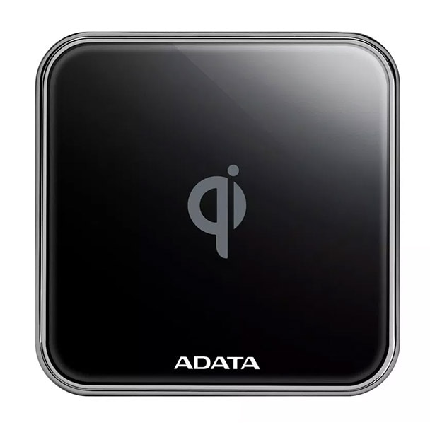 Fotografie Incarcator wireless ADATA Qi ACW0100, 10W, Metal, Black