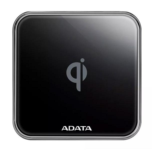 Fotografie Incarcator wireless ADATA Qi ACW0100, 10W, Metal, Black